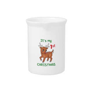 MY FIRST CHRISTMAS BEVERAGE PITCHER