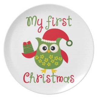 My First Christmas Plate