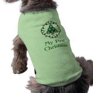 My First Christmas Puppy Shirt