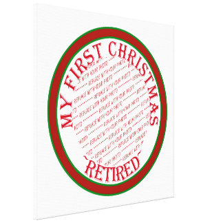 My First Christmas Retired Photo Frame Stretched Canvas Prints