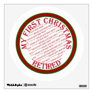 My First Christmas Retired Photo Frame Template Wall Sticker