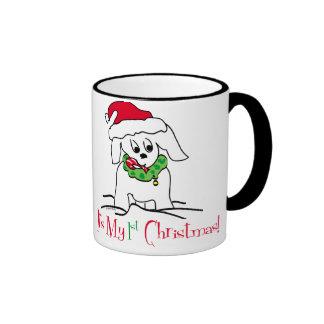 My First Christmas Ringer Mug