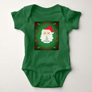 My first Christmas Santa one piece. Baby. Baby Bodysuit