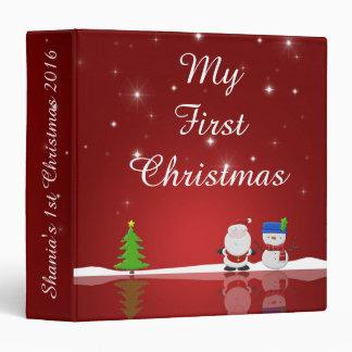 My First Christmas Snowman and Santa Memory Binder