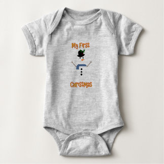 My First Christmas - Snowman Baby Bodysuit