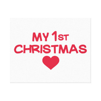 My first christmas stretched canvas prints