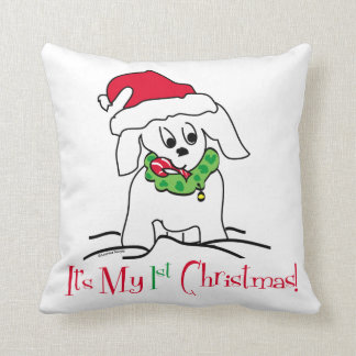 My First Christmas Throw Pillow
