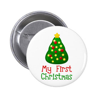My First Christmas Tree 2 Inch Round Button
