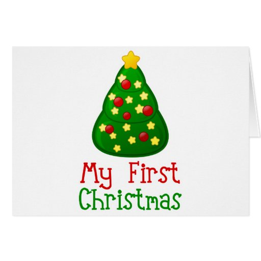 My First Christmas Tree Card