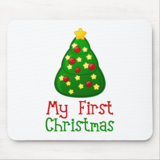 My First Christmas Tree Mouse Pad