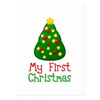My First Christmas Tree Postcard
