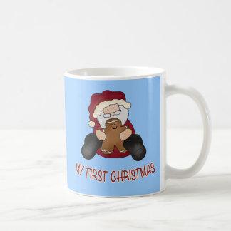 My First Christmas with Gingerbread and Santa Coffee Mug