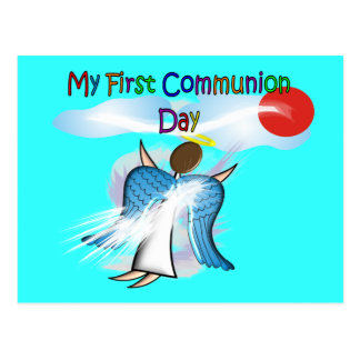 My First Communion Day Gifts Postcard