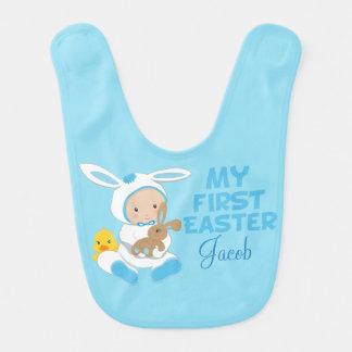 My First Easter Baby Boy Blue Bib
