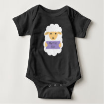 My first eid - baby sheep baby bodysuit