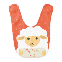 My first eid - baby sheep bib