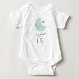 My First Eid baby wear, clothes Baby Bodysuit