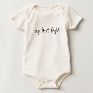 my first flight baby bodysuit