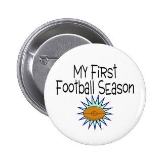 My First Football Season Football 2 Inch Round Button