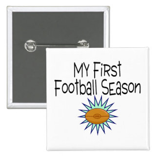 My First Football Season Football 2 Inch Square Button