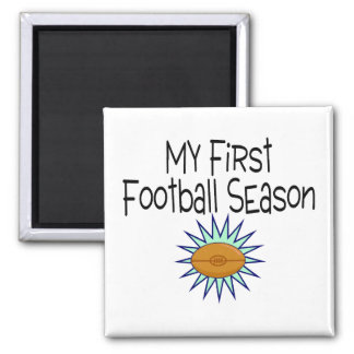 My First Football Season Football 2 Inch Square Magnet