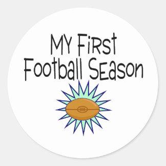 My First Football Season Football Classic Round Sticker