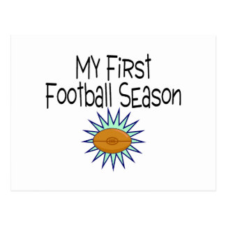 My First Football Season Football Postcard