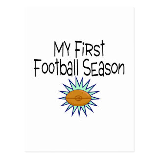 My First Football Season Football Postcard