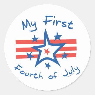 My First Fourth Classic Round Sticker