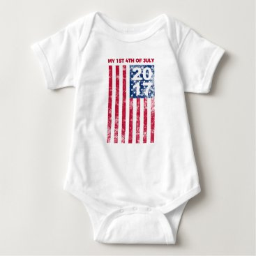 USA Themed My First Fourth Of July 2017 One Piece Infant Baby Bodysuit