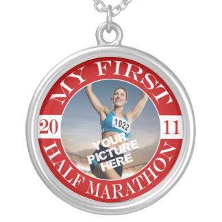 My First Half Marathon - 2011 Silver Plated Necklace