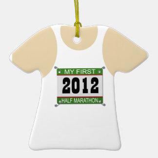 My First Half Marathon - 2012 Christmas Ornament