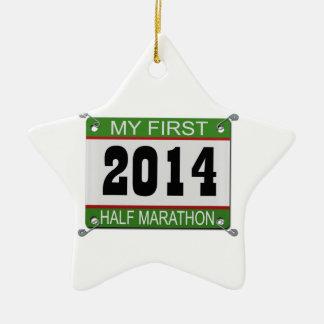 My First Half Marathon Ornament - 2014