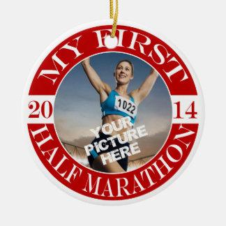 My First Half Marathon Photo Ornament - 2014