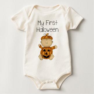 My First Halloween Boy #3 *Orgnanic Creeper* Baby Bodysuit