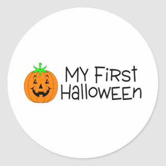 My First Halloween Classic Round Sticker