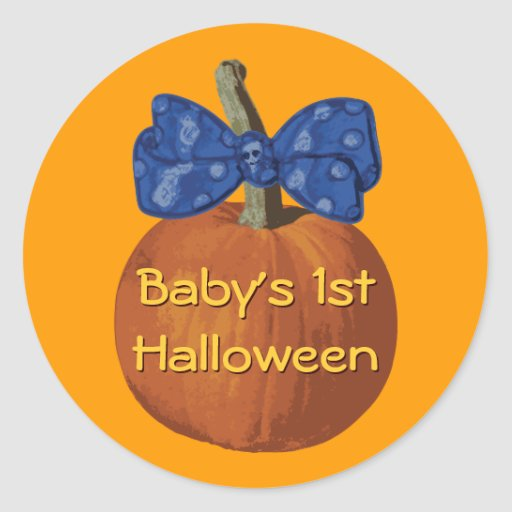 My First Halloween Classic Round Sticker