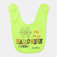 My First Halloween, Cute Spider Baby Bib