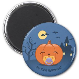 My First Halloween Pacifier Pumpkin Magnet