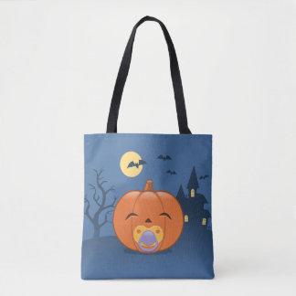 My First Halloween Pacifier Pumpkin Tote Bag