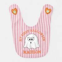 My First Halloween Personalized Ghost Bib