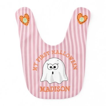 Halloween Themed My First Halloween Personalized Ghost Bib