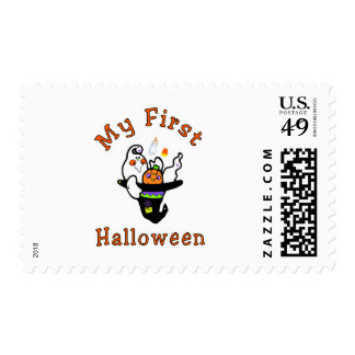 My First Halloween Postage Stamp