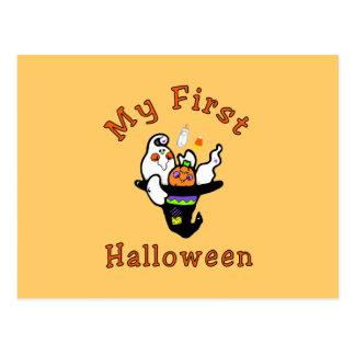 My First Halloween Postcard