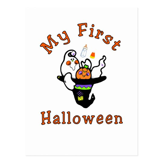 My First Halloween Postcard