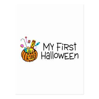 My First Halloween Pumpkin Candy Postcard
