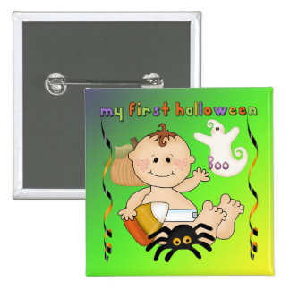 My First Halloween Square Button