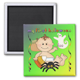My First Halloween Square Magnet