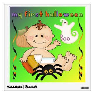 My First Halloween Square Wall Decal