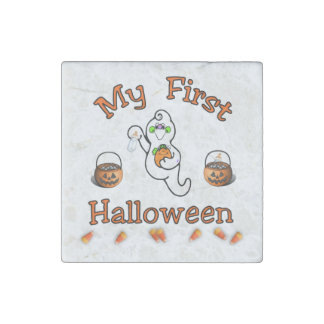 My First Halloween Stone Magnet